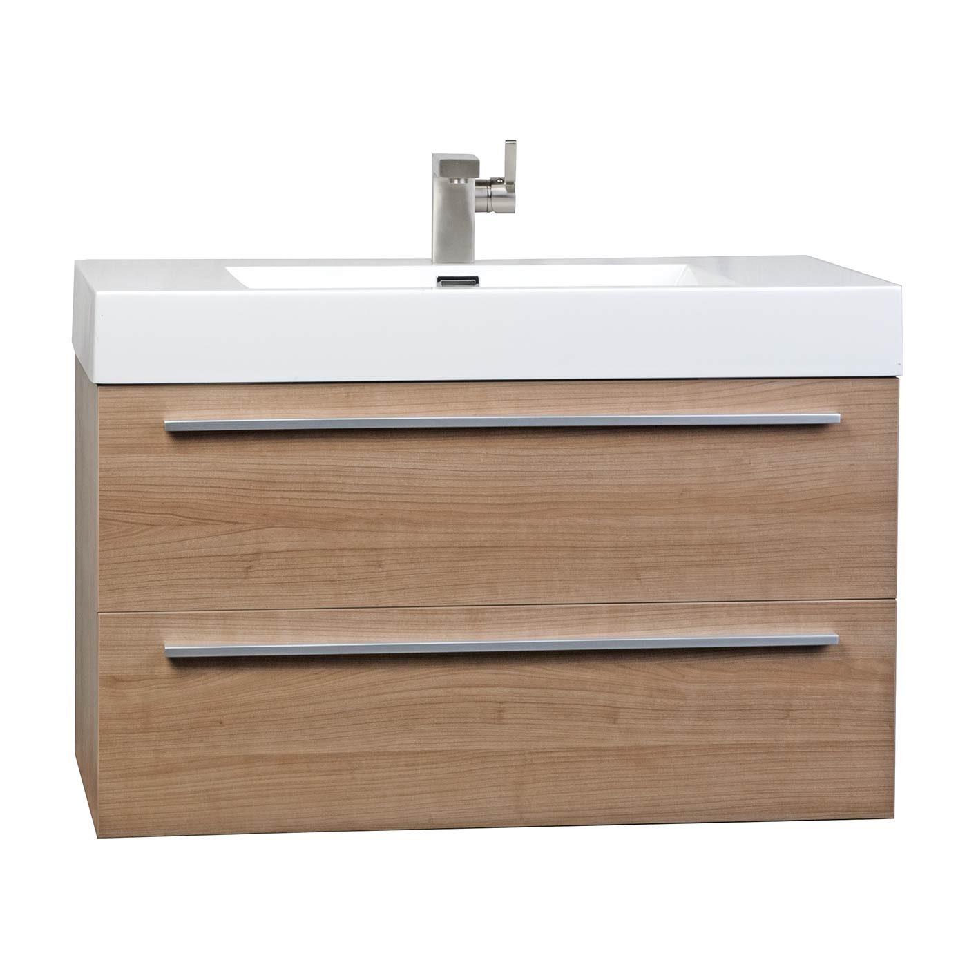 Buy 31 5 Inch Wall Mount Contemporary Bathroom Vanity In Light Cherry Tn M800 Lc On