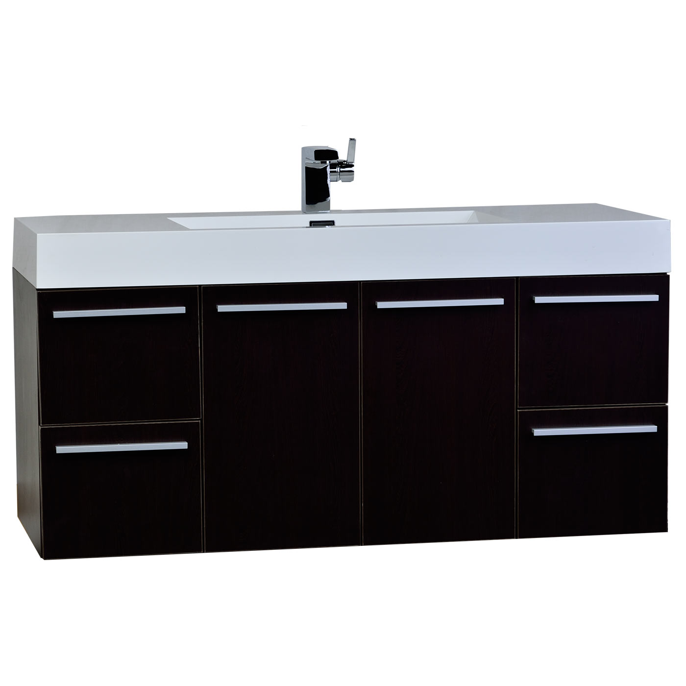 47 inch wall mount contemporary bathroom vanity in espresso tn ta1200