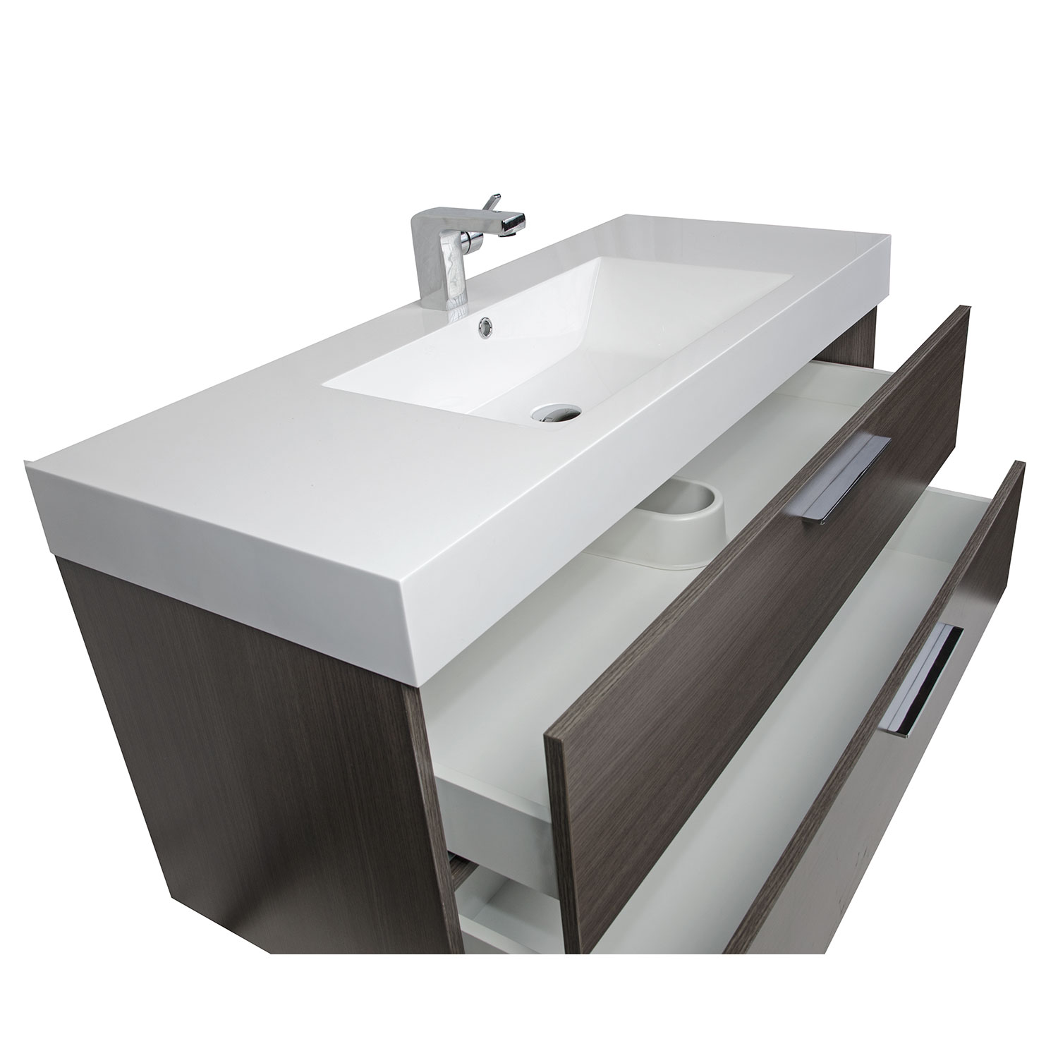 contemporary bathroom vanity. 47  Wall Mount Contemporary Bathroom Vanity Grey Oak TN T1200 1 GO Optional Legs RS L1200