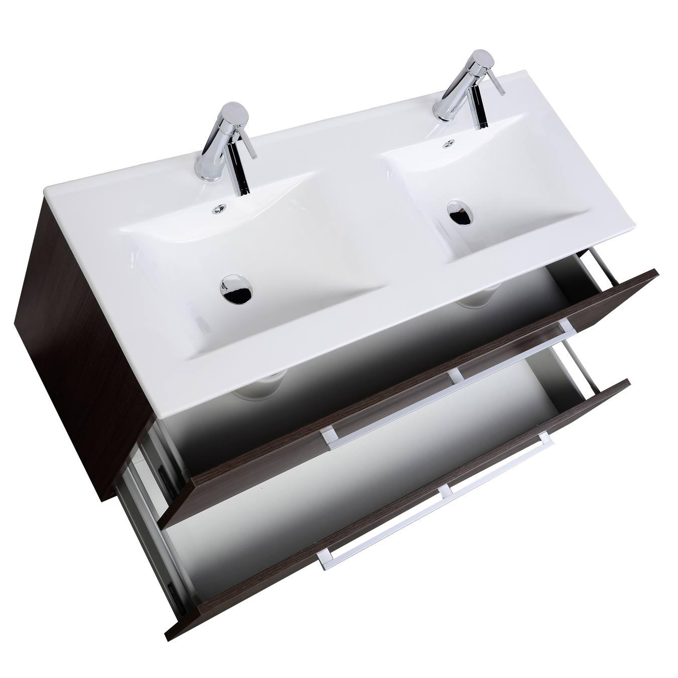 buy caen 48 in. wall-mount double bathroom vanity grey oak