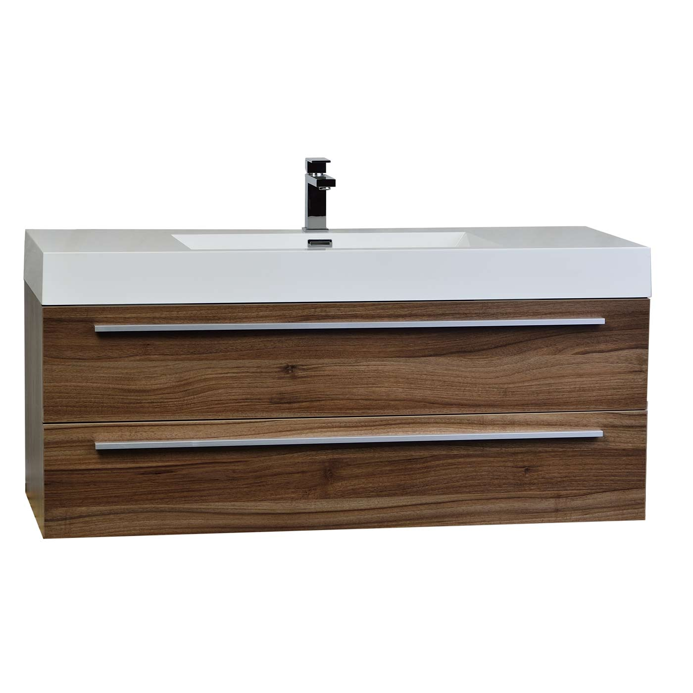 47 Wall Mount Contemporary Bathroom Vanity Walnut