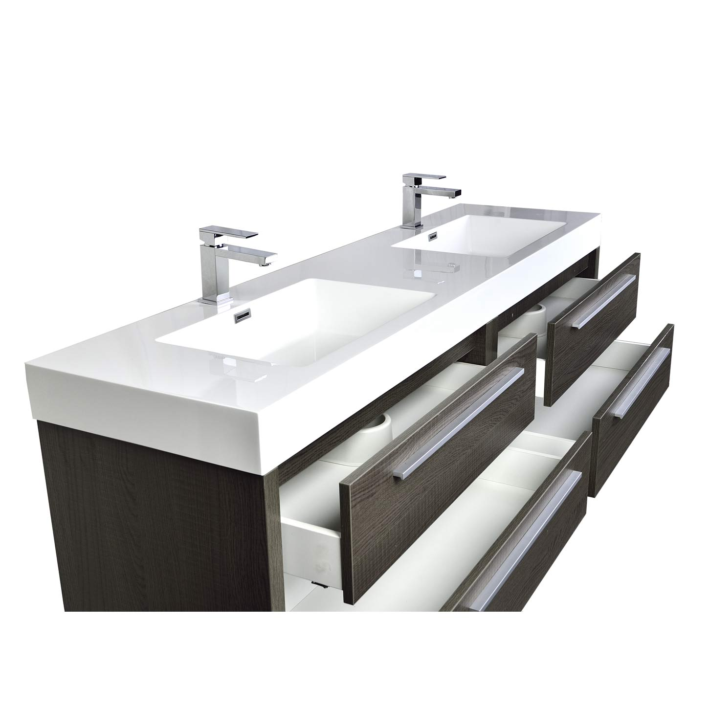Bathroom vanity san francisco - Mula 71 Contemporary Double Vanity Set Rs La1810 Oak