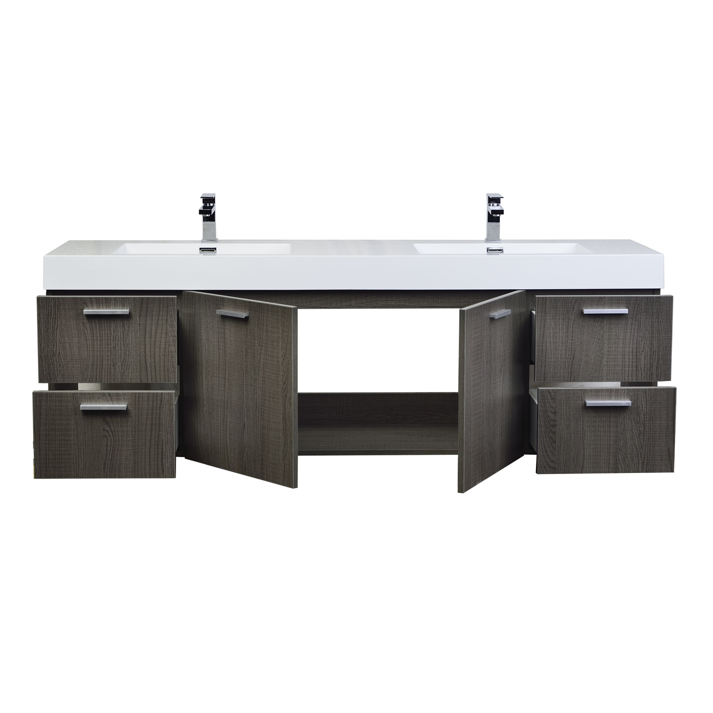 Buy Monza 71 Contemporary Double Vanity Set Rs Dm1810 Oak On Free Shipping