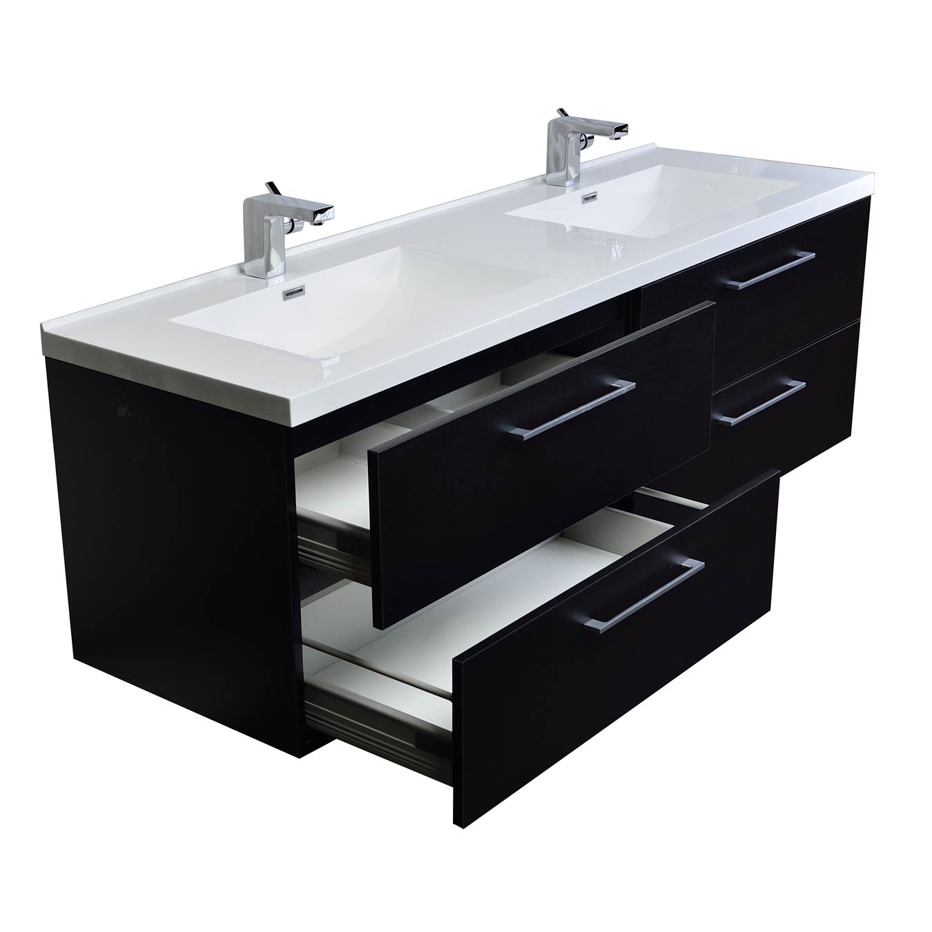 Buy Camino 67 In Modern Double Vanity Set Wall Mount Matt