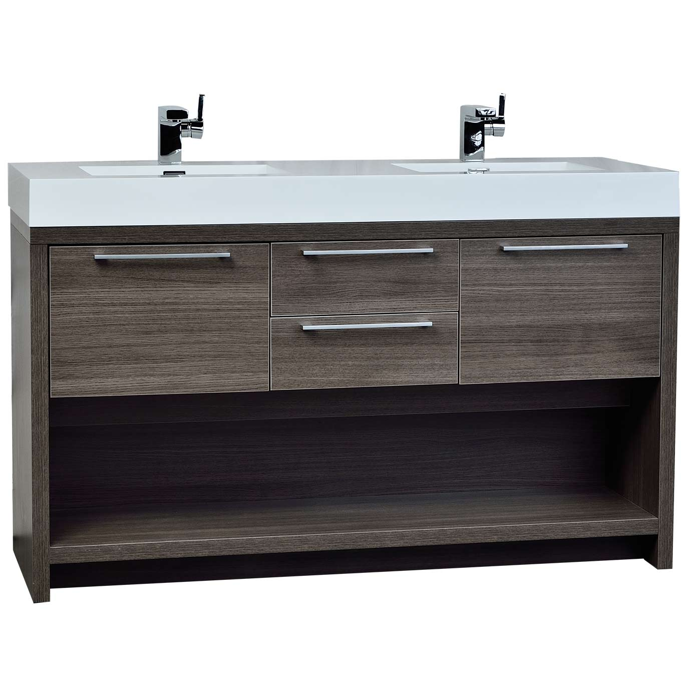 buy lodi  inch contemporary doublesink vanity in grey oak tn  - lodi  contemporary doublesink vanity in grey oak tnfago