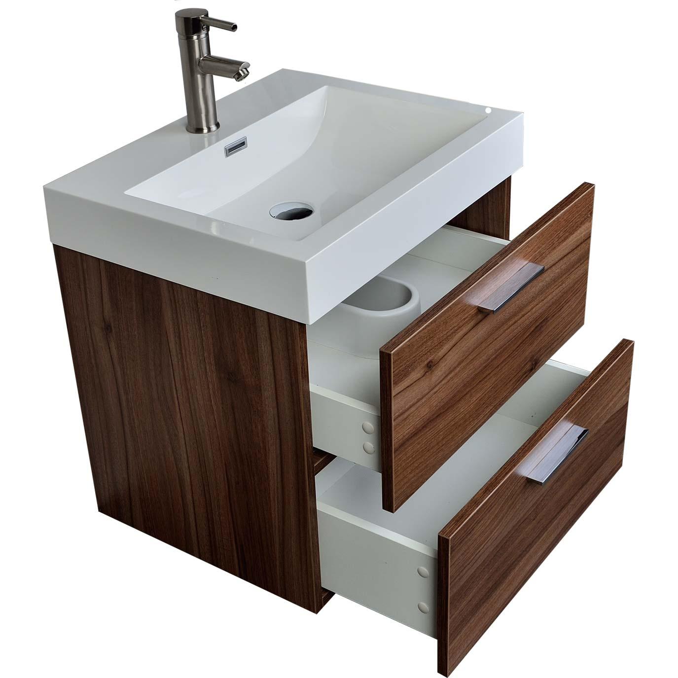 2275 single bathroom vanity set in walnut tn t580 wn