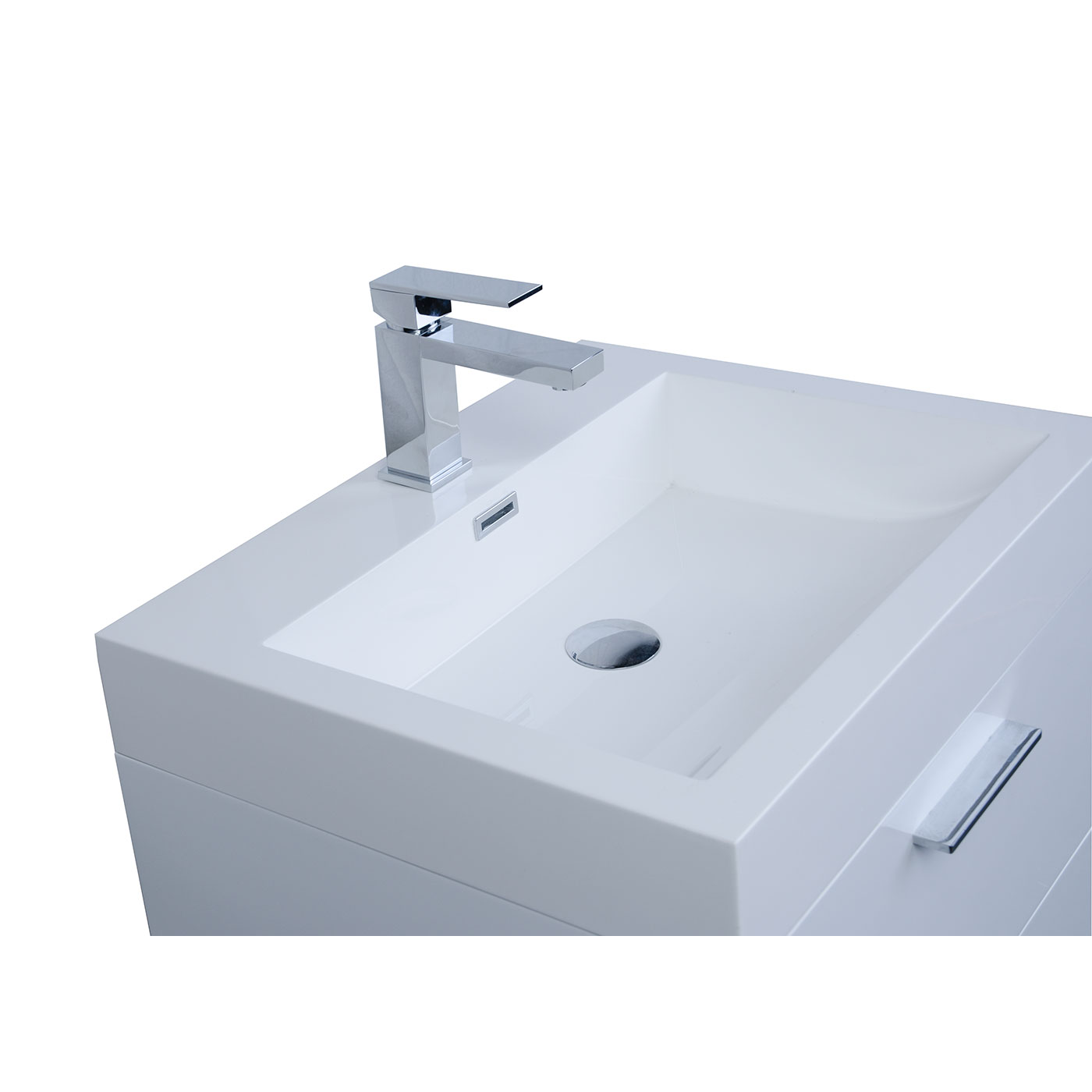 Buy 22.75 In. Single Bathroom Vanity Set High Gloss White TN-T580 ...
