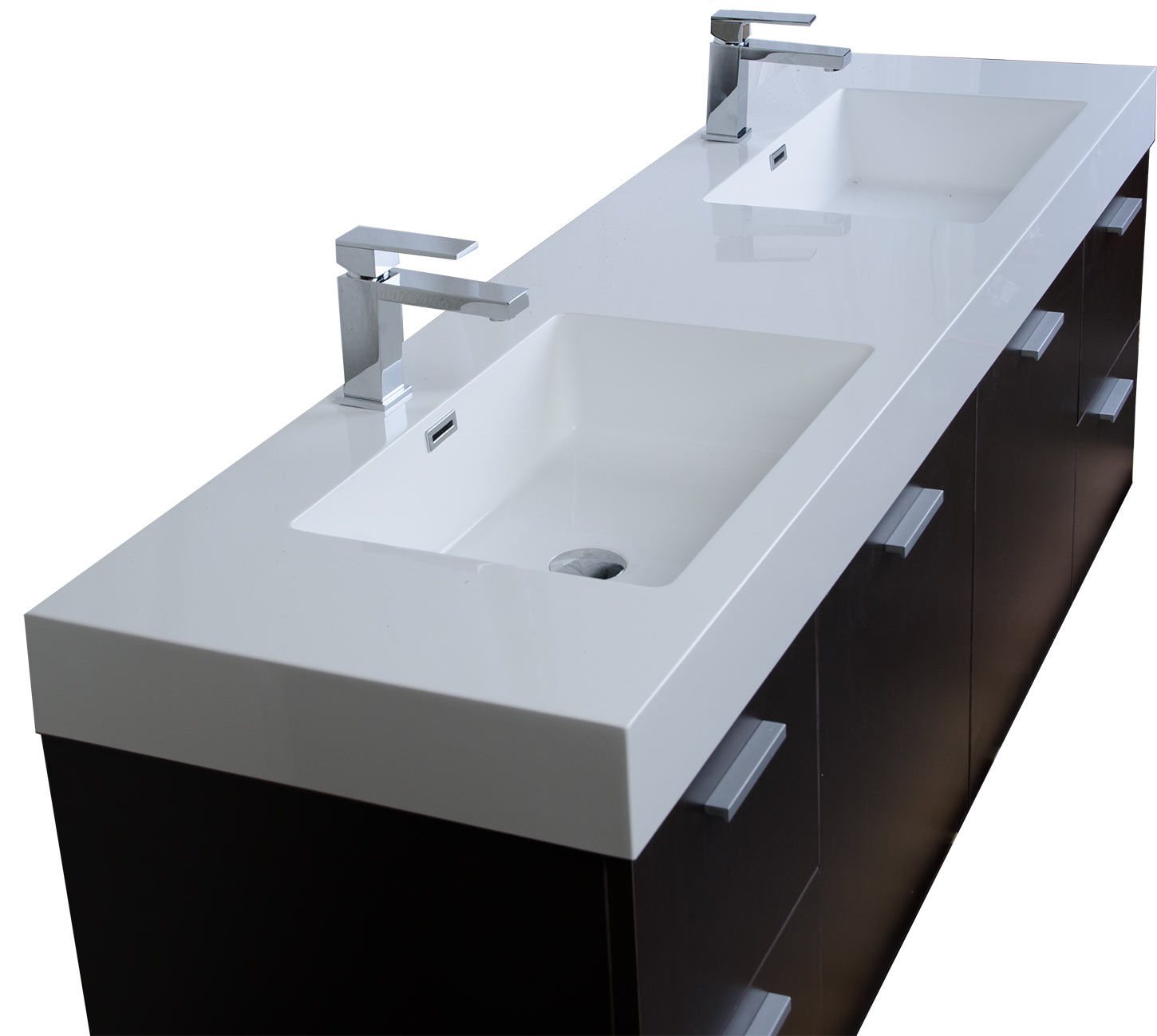 buy monza  inch contemporary double vanity set espresso rs  - monza  contemporary double vanity set espresso rsdmesp