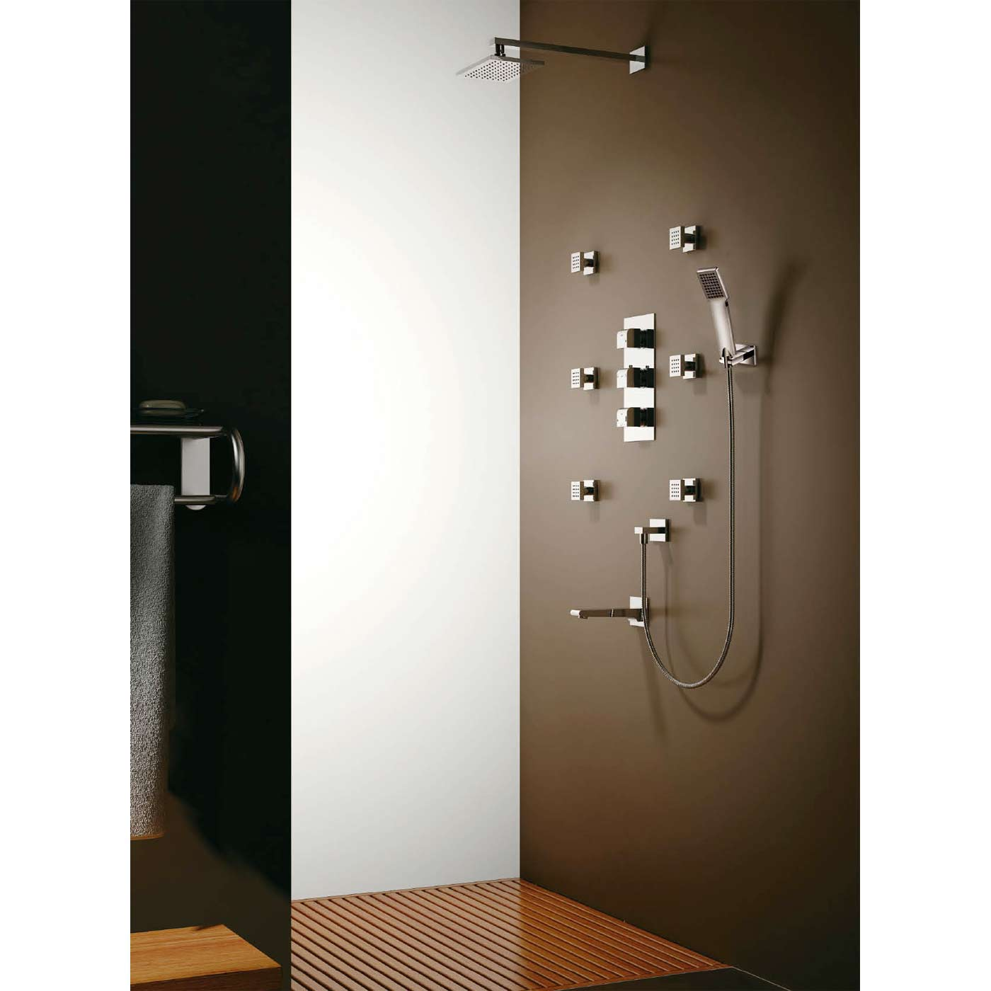 Buy CBI Oceanus Quad Thermostatic Shower Valve with Divert with ...