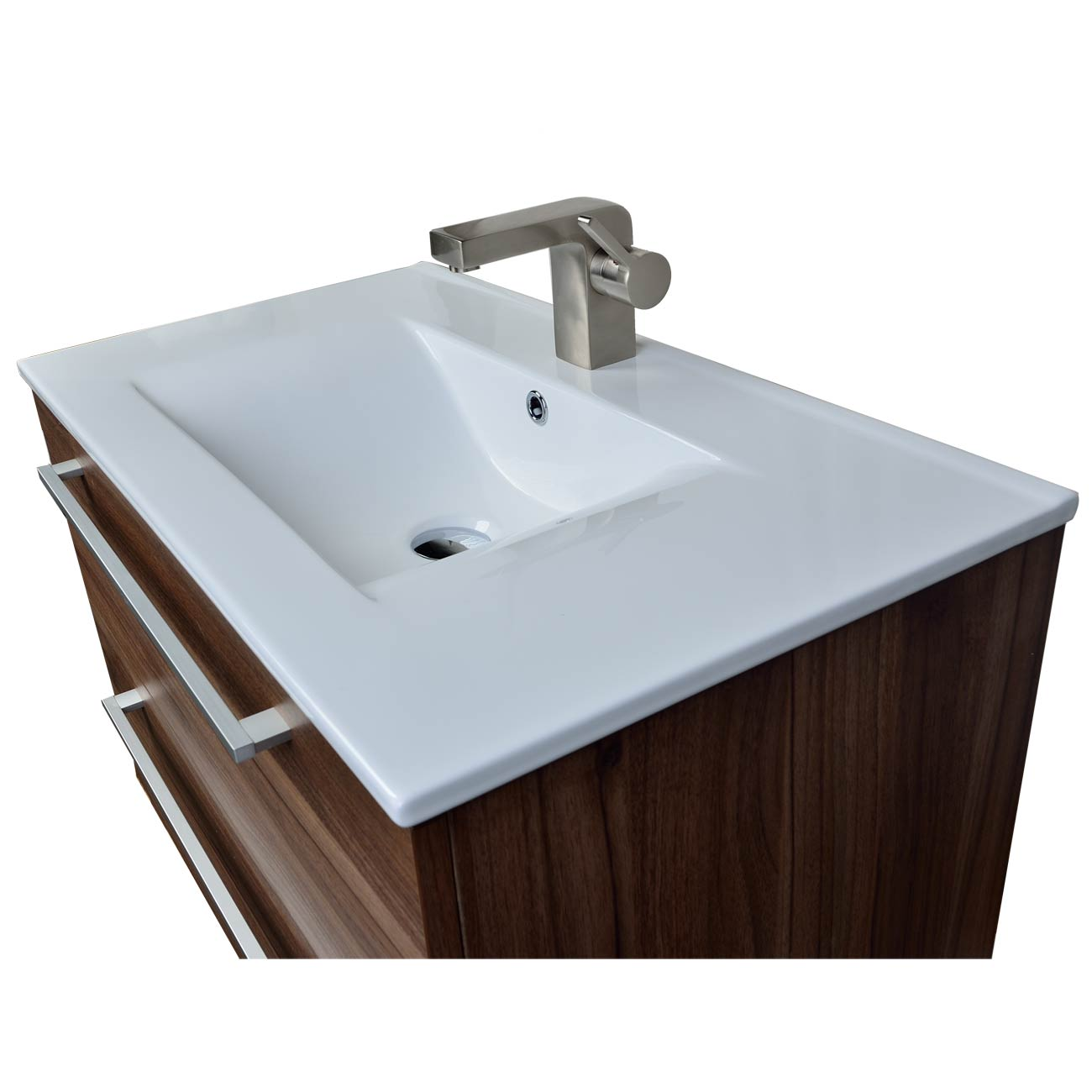 Modern Wall Mount Bathroom Vanity Cbi Walnut RS DM800 WN