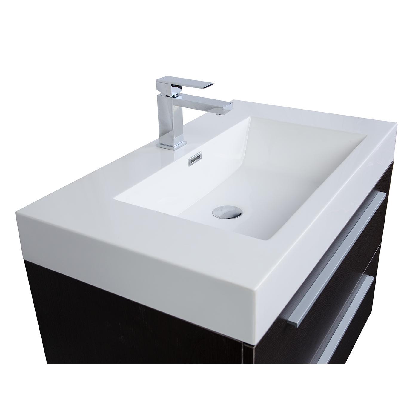 31 5 inch wall mount contemporary bathroom vanity mirror set espresso