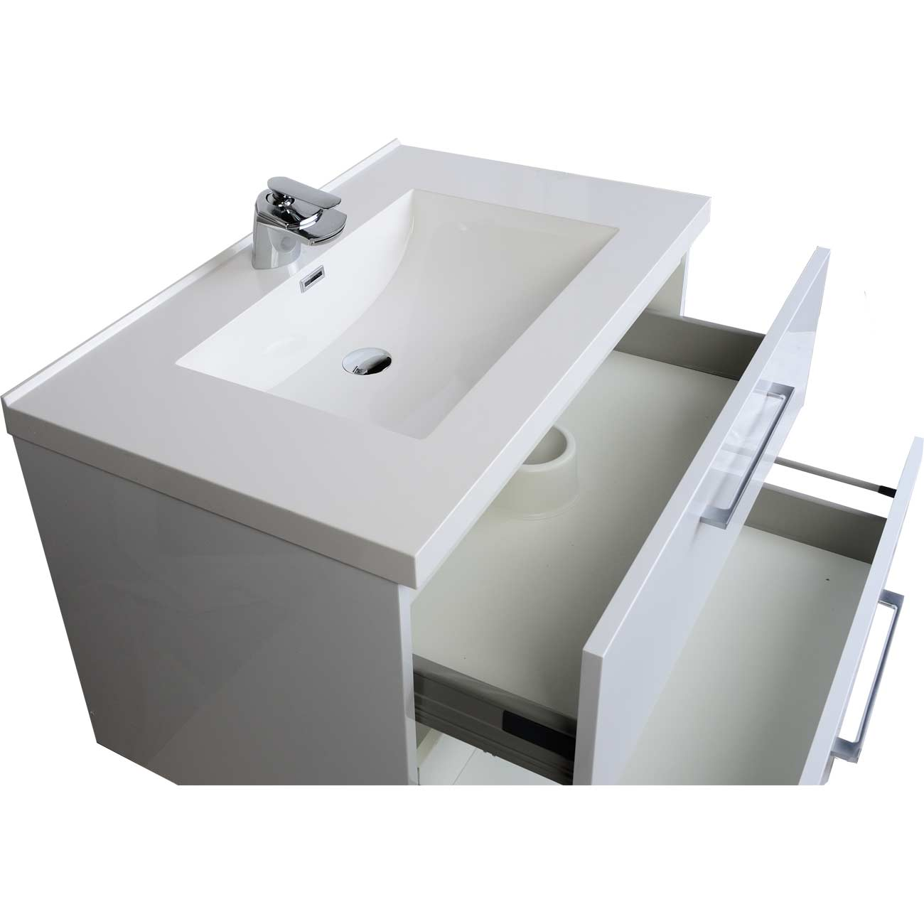 Bathroom vanity san francisco - 33 5 Wall Mount Contemporary Bathroom Vanity Set In High Gloss White Tn Ta860 Hgw