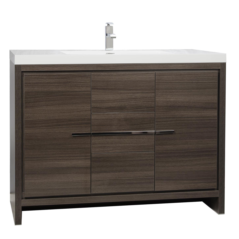 Bathroom Vanities For Cheap. Cbi Enna 42 Inch Grey Oak Modern Bathroom Vanity Tn La1065 Go