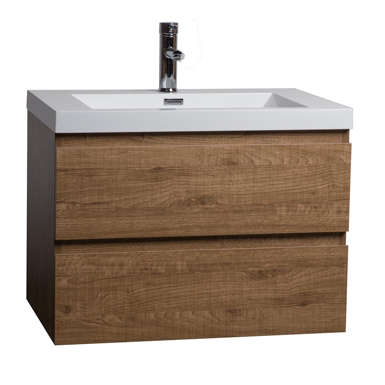 Buy Angela 30 Inch Wall Mount Bathroom Vanity Danish Teak Tn Ag750 Dt Conceptbaths Com Free Shipping