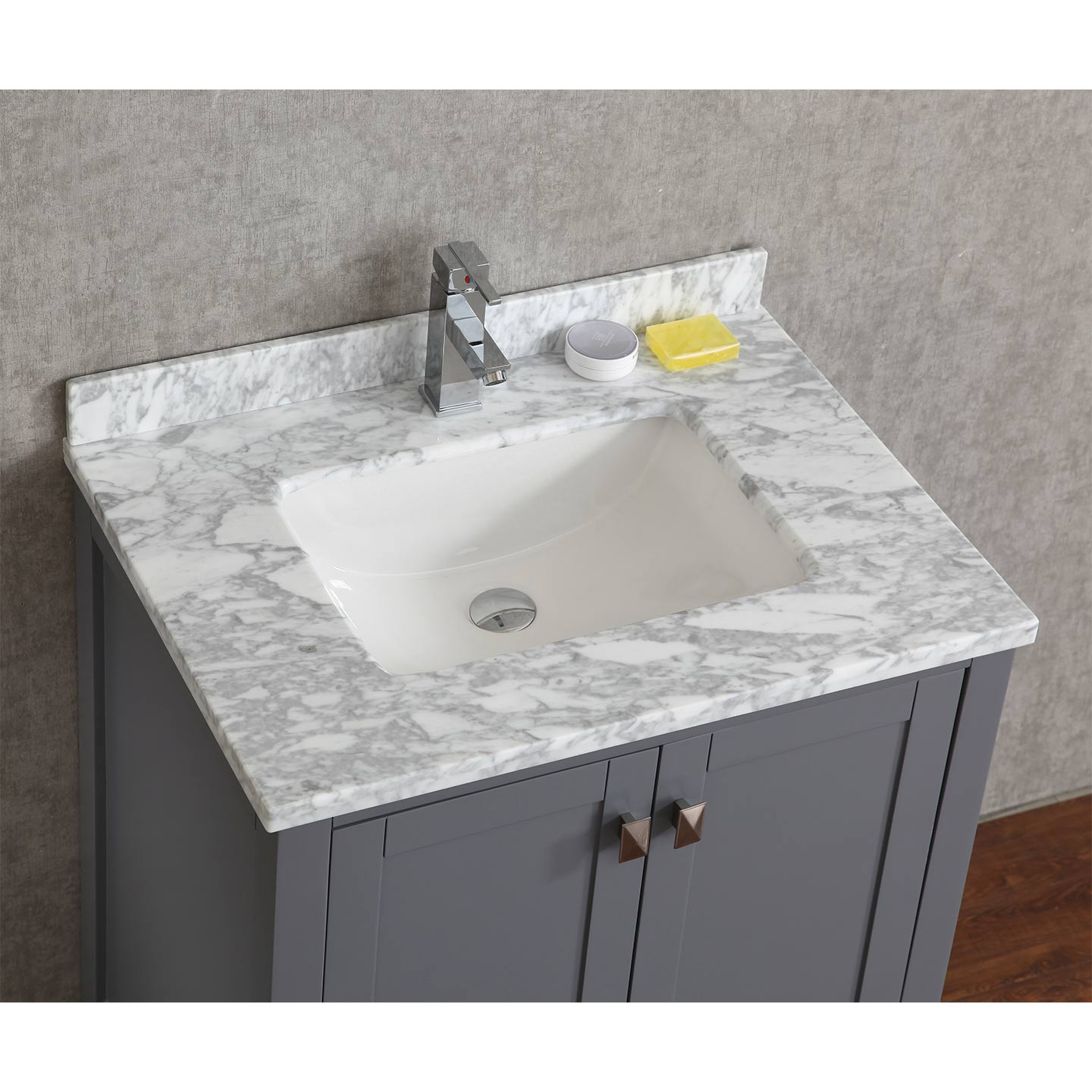 30 Bathroom Vanity Grey buy vincent 30 inch solid wood double bathroom vanity in charcoal