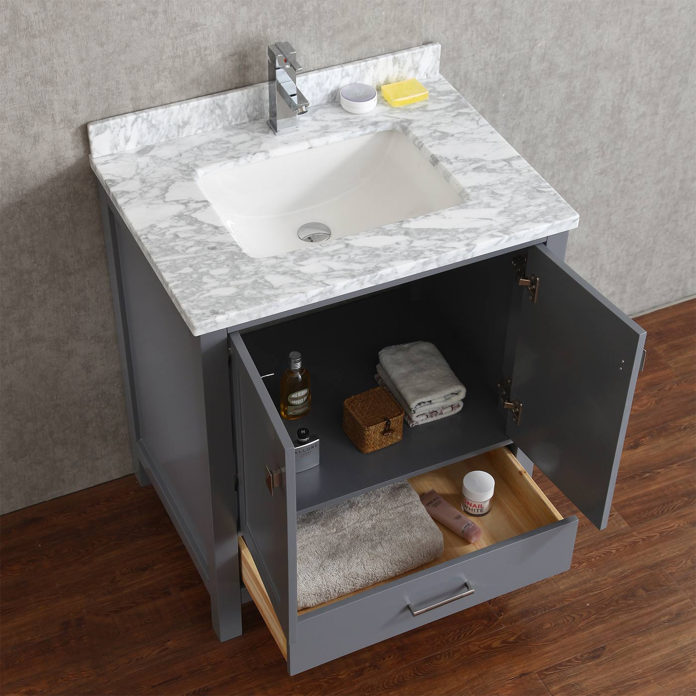 item modern home vanities wood with bathroom free sink improvement solid vanity in mirror standing cabinet on storage from