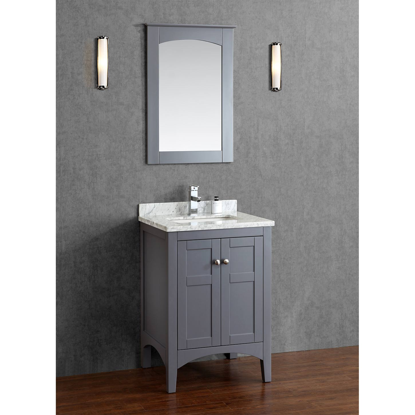 buy martin 24 inch solid wood single bathroom vanity in charcoal grey