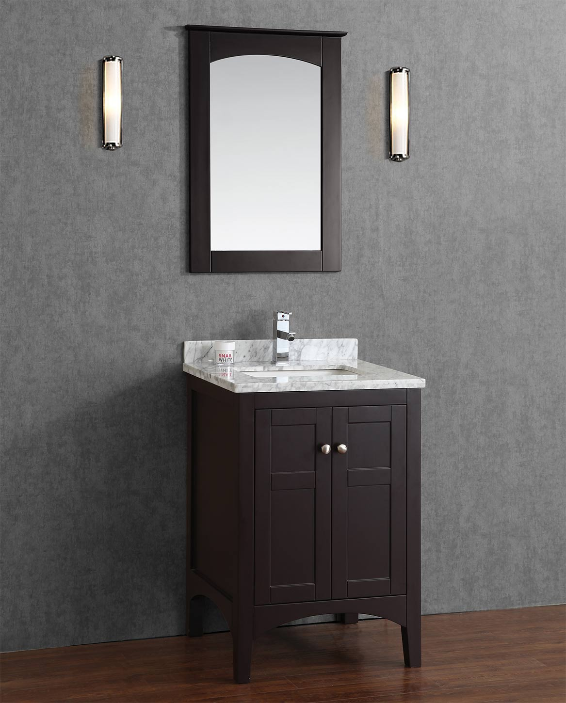 Buy Martin 24 Inch Solid Wood Single Bathroom Vanity In Espresso Hm 001 24 Wmsq Esp