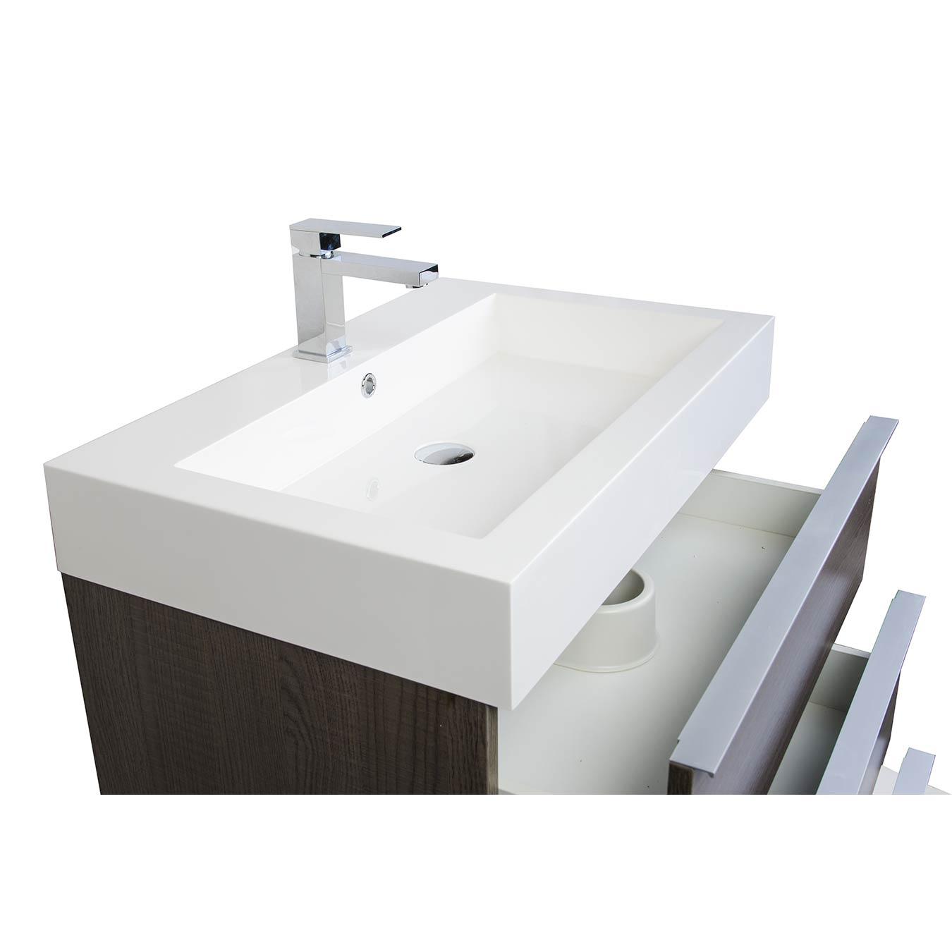 Buy 29 25 Single Bathroom Vanity Set in OAK Optional Mirror RS L750 OAK Con