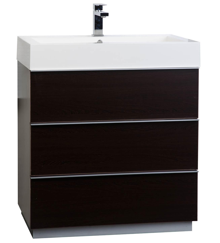 Buy 29 25 Single Bathroom Vanity Set in Espresso Optional Mirror RS L750 WG
