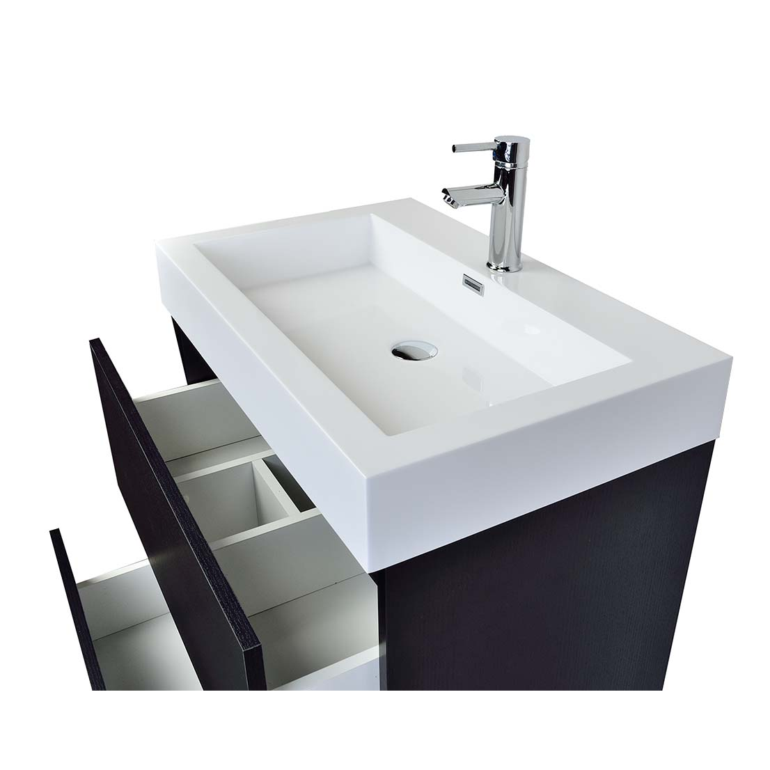 Contemporary Bathroom Vanity Black TNLYBK Conceptbathscom - 30 inch contemporary bathroom vanity