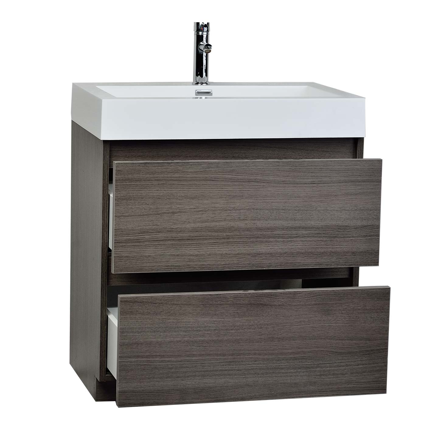 29 5 Inch Contemporary Bathroom Vanity Grey Oak Optional
