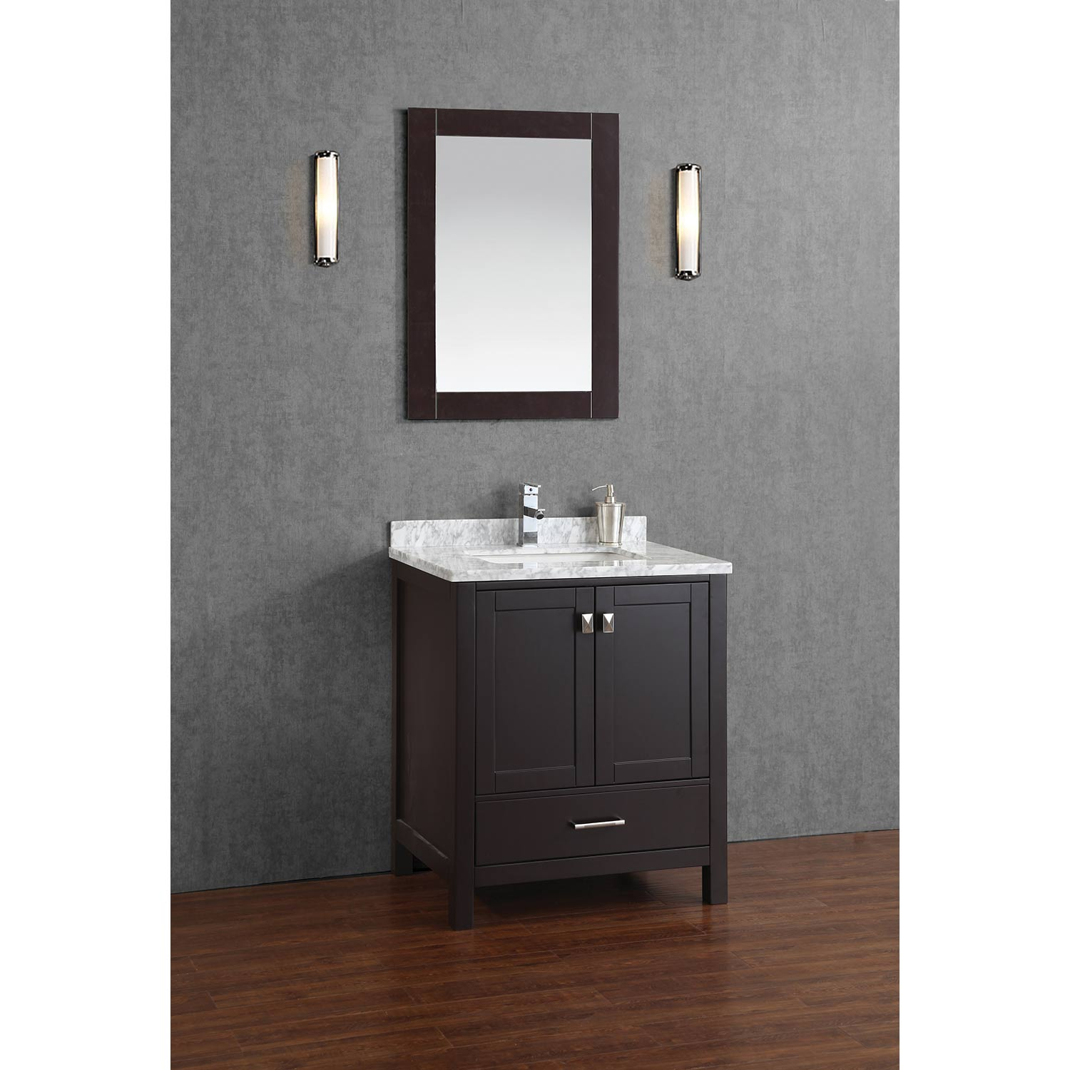 Buy Vincent 30 Inch Solid Wood Double Bathroom Vanity In Espresso Hm 13001 30 Wmsq Esp