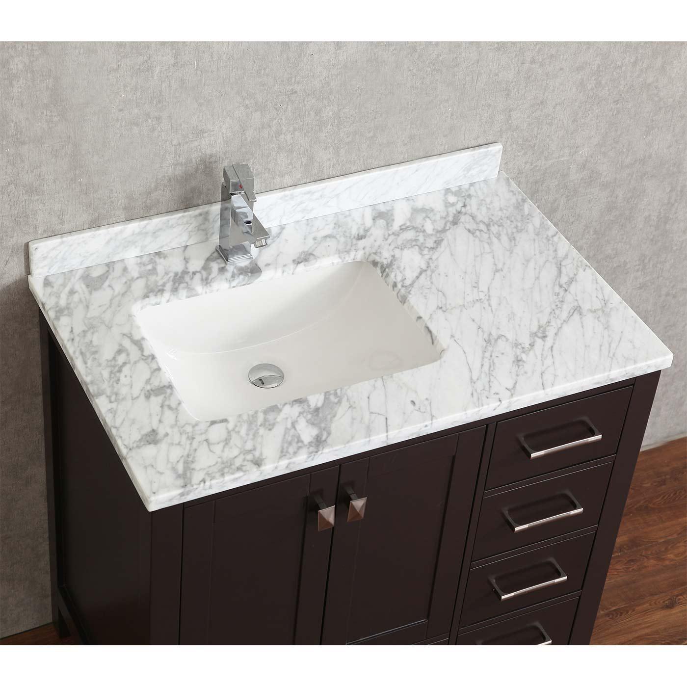 Buy Vincent 36 Inch Solid Wood Single Bathroom Vanity in Espresso HM