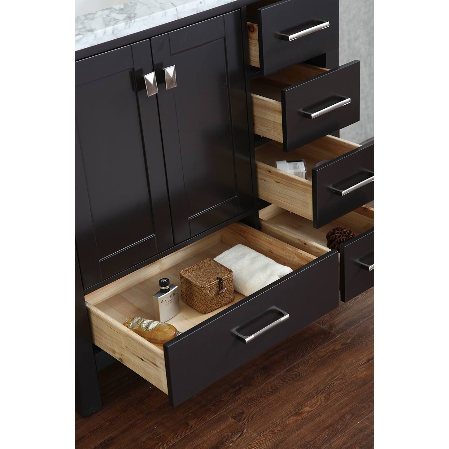 Buy Vincent 36 Inch Solid Wood Single Bathroom Vanity In Espresso Hm 13001 36 Wmsq Esp