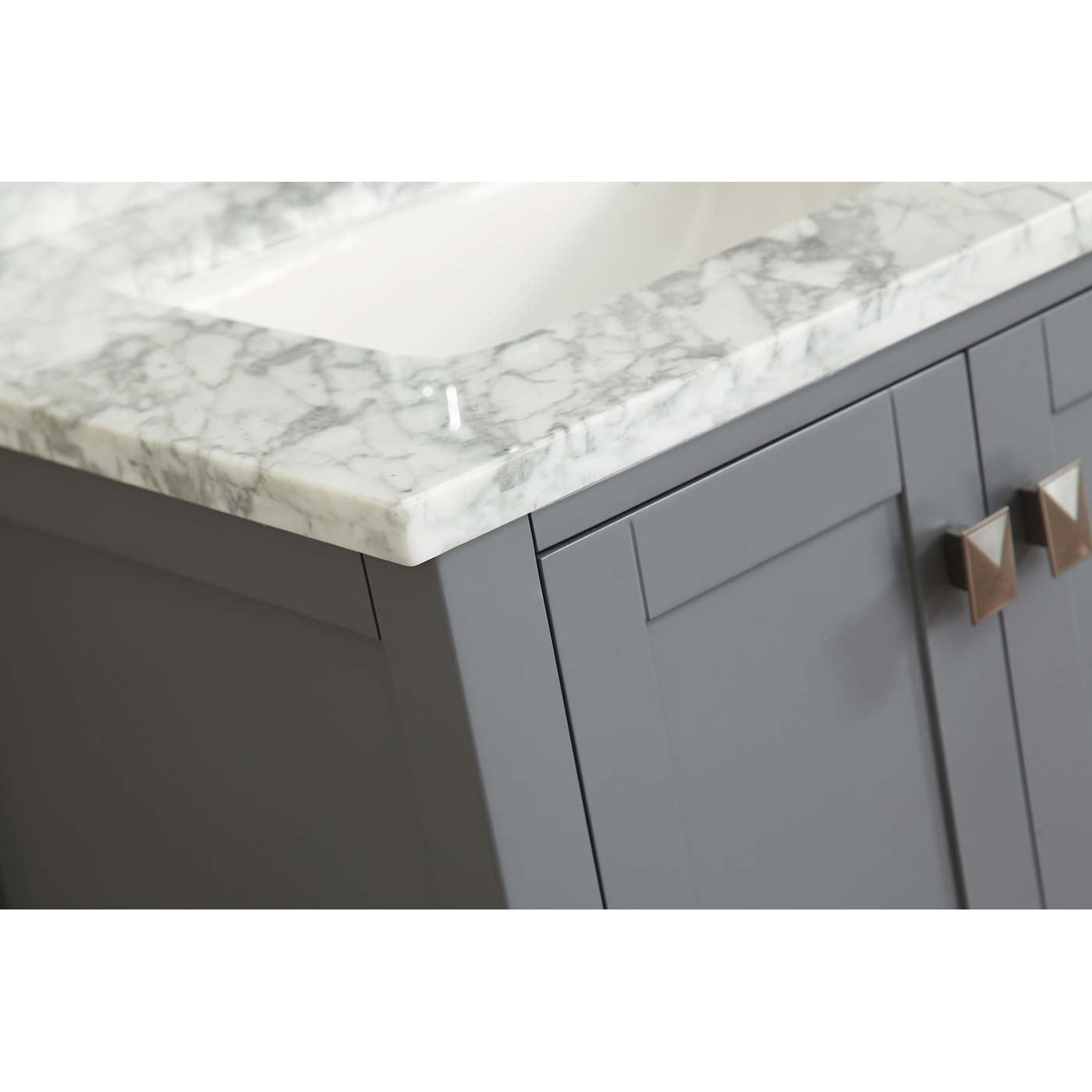 Buy vincent 36 inch solid wood single bathroom vanity in for Charcoal grey bathroom accessories