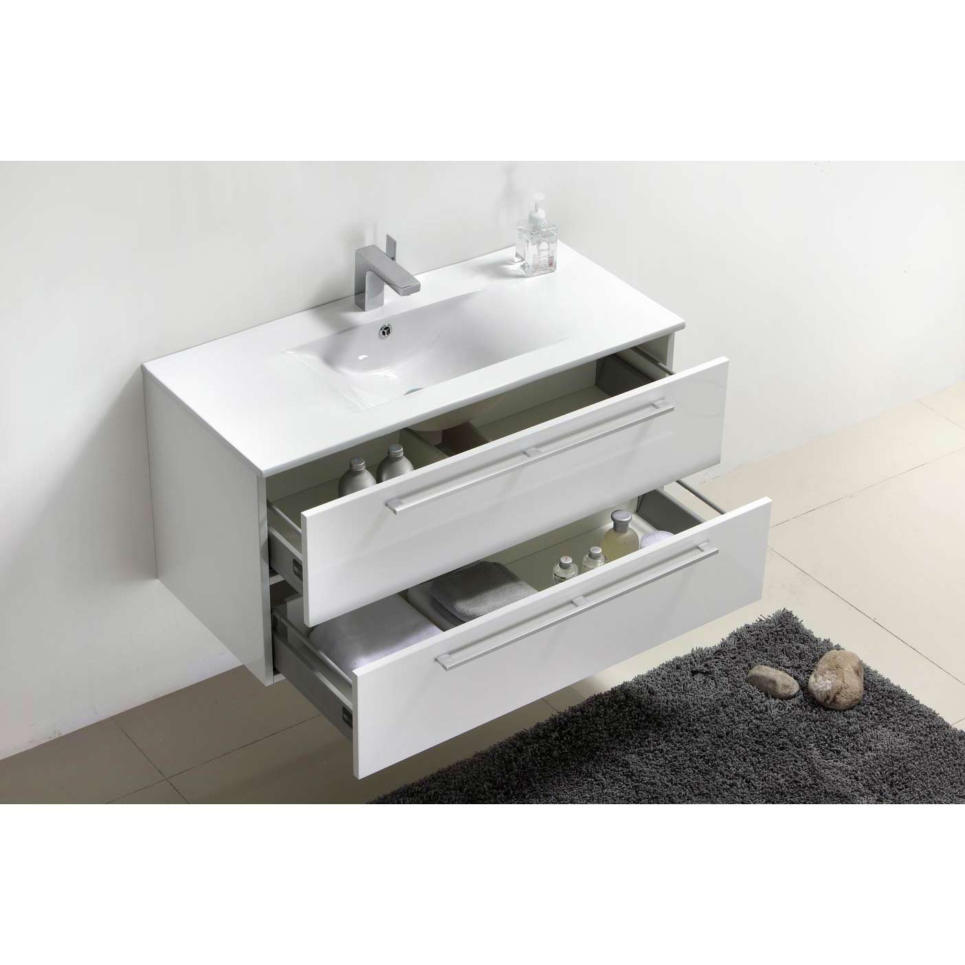 modern wall mount bathroom vanity cbi grey oak rsdmgo. buy caen  inch wallmount modern bathroom vanity set grey oak