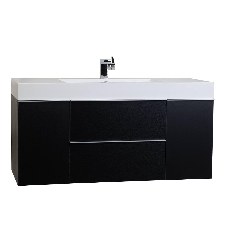 wall mount contemporary bathroom vanity black rs r1200 bk