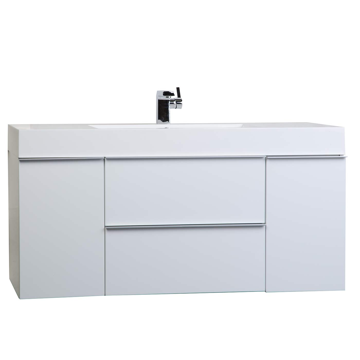 Inch wall mount contemporary bathroom vanity glossy for Restroom vanity