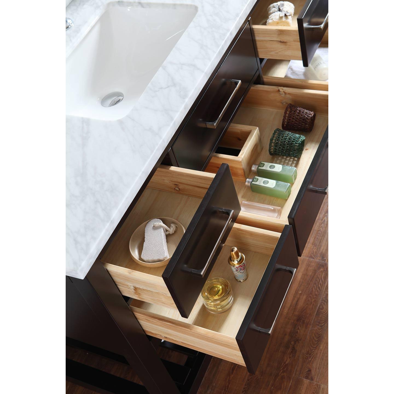 Bathroom Vanities 48 Inch buy antonia 48 inch solid wood single bathroom vanity in espresso