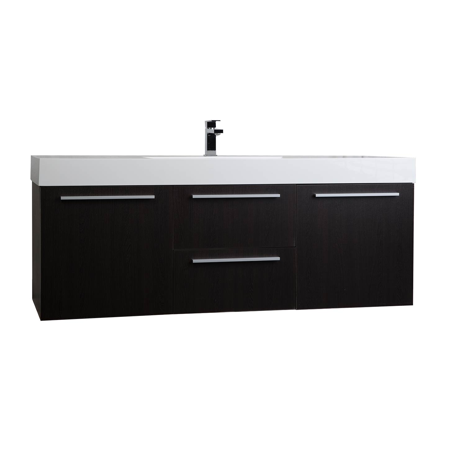 Buy 59 Inch Wall Mount Contemporary Bathroom Vanity In