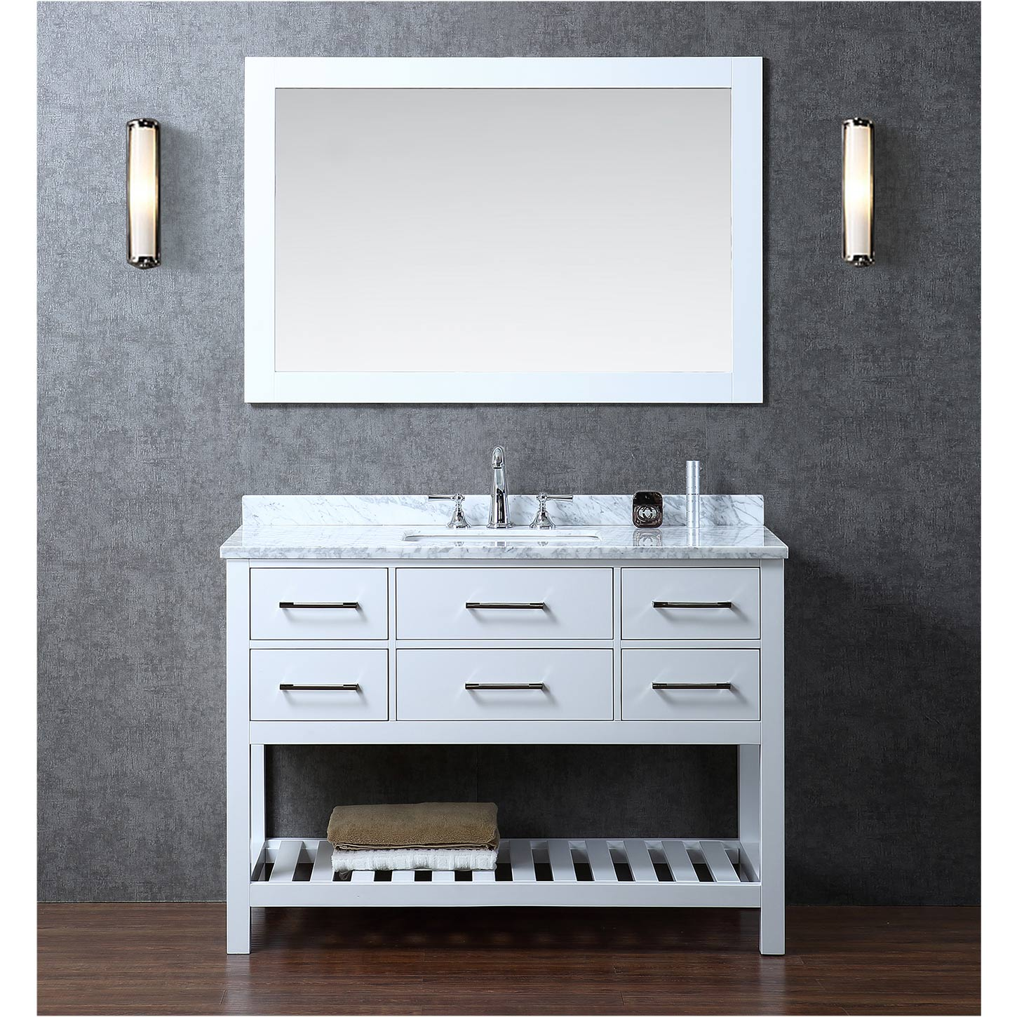 48 bathroom vanity. cambridge 48u0026quot bath vanity with black
