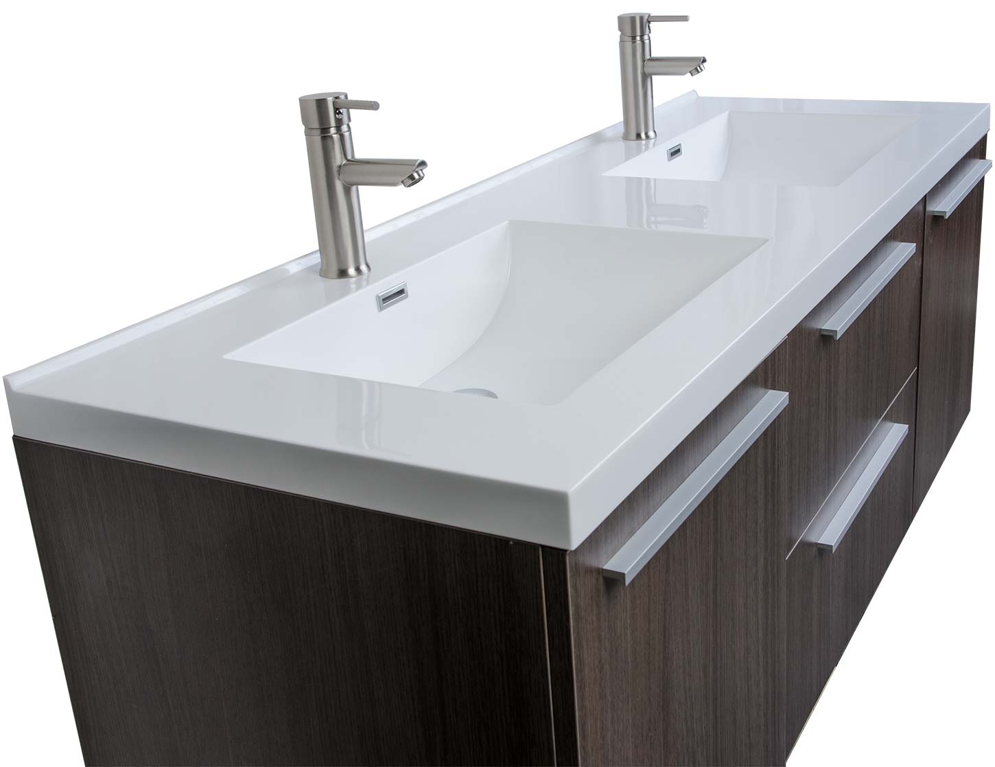 buy  inch wall mounted modern double vanity in grey oak tn