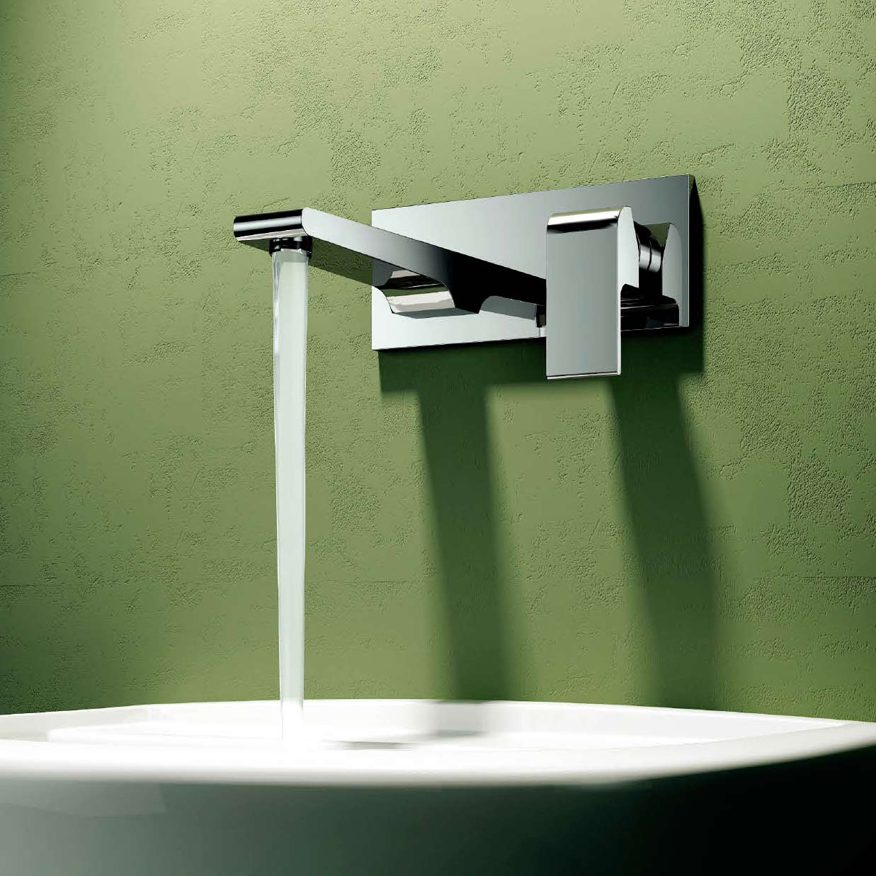 CBI Oceanus 2-Hole Wall Mounted Bathroom Faucet in Chrome CL-JDL ...