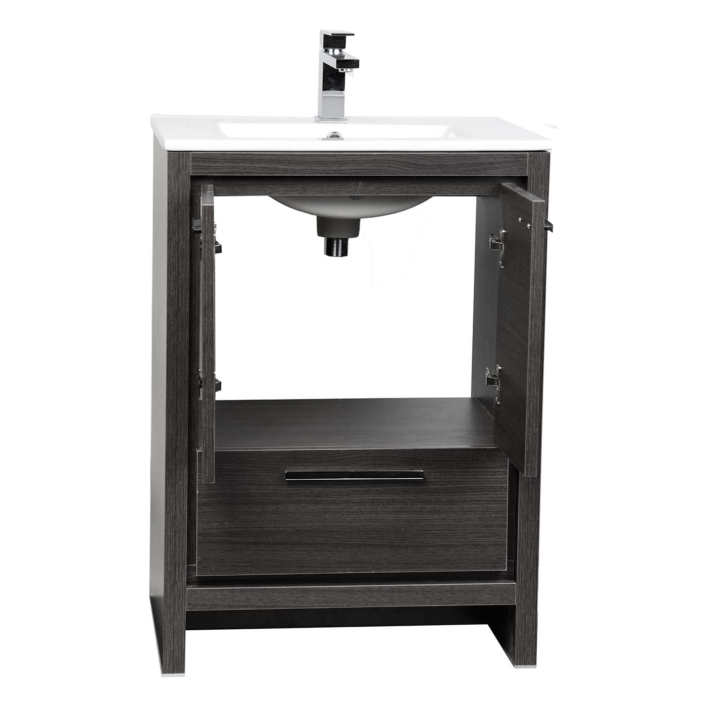 CBI Enna 23 5 inch Grey Oak Modern Bathroom Vanity TN LA600 GO. Bathroom Vanities Bay Area