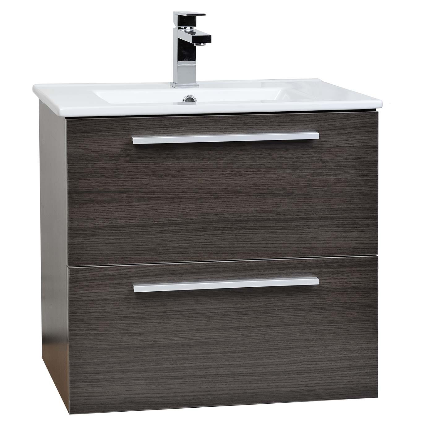 Buy Nola Wall Mount Modern Bathroom Vanity Grey Oak
