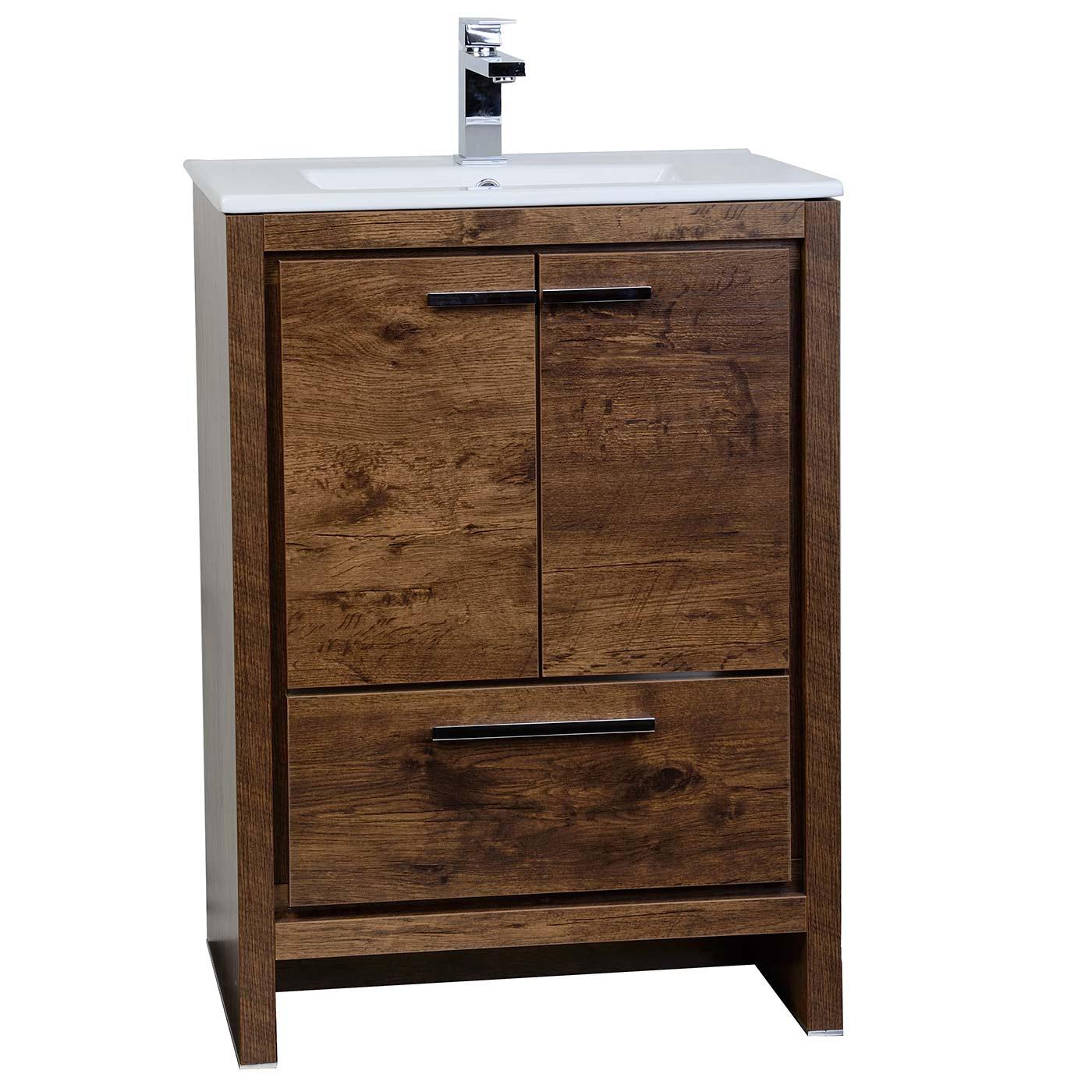 Buy CBI Enna Inch Rosewood Modern Bathroom Vanity TNLARW - 24 contemporary bathroom vanity