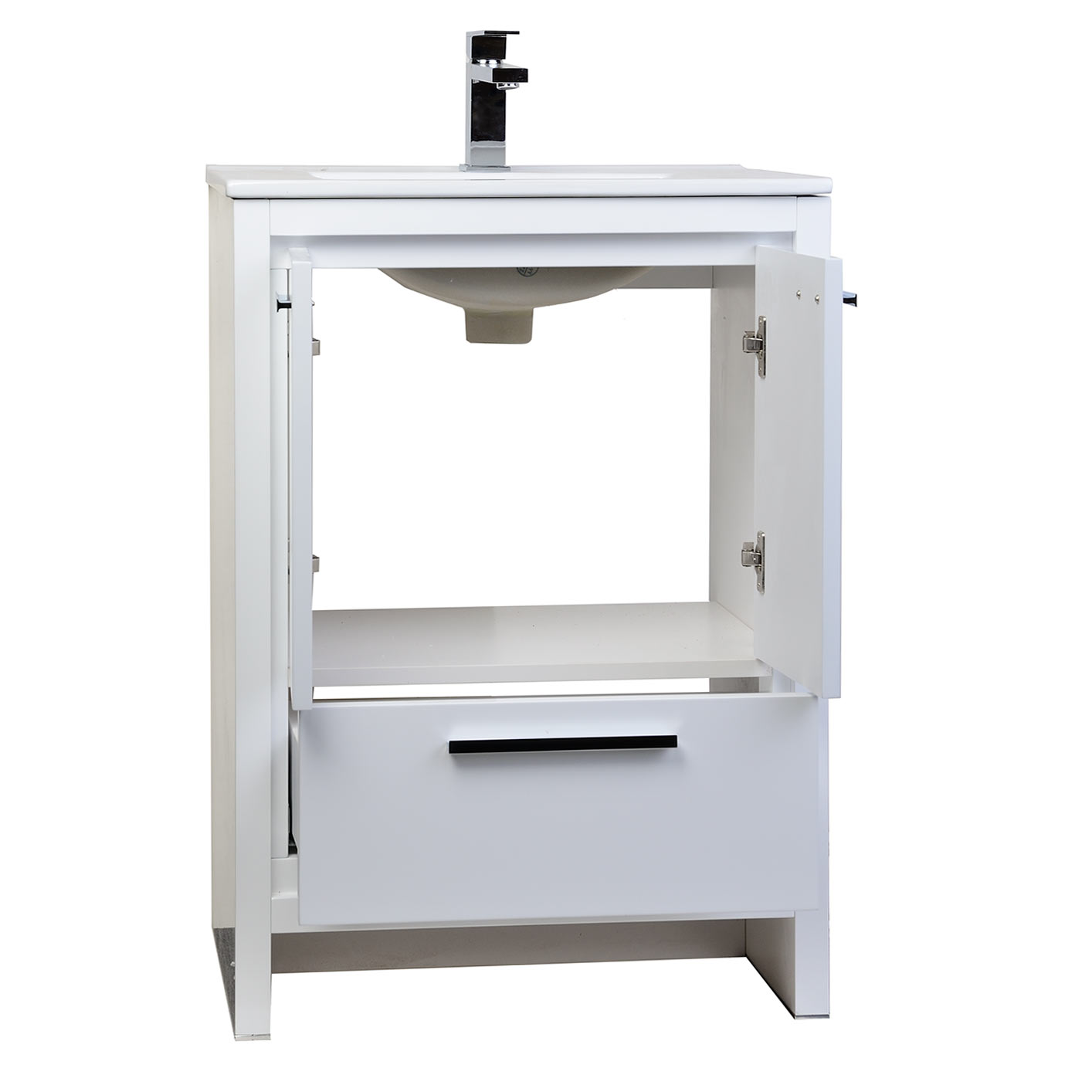 Buy cbi enna 23 5 inch white modern bathroomvanity tn for White contemporary bathroom vanity