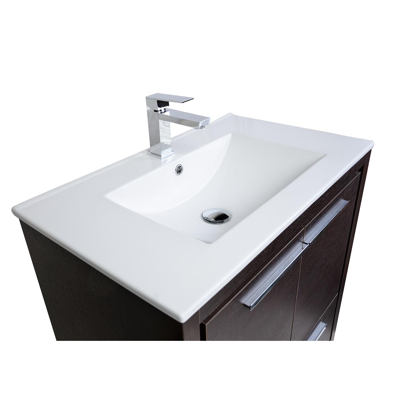 Buy CBI Enna 29 5 inch Espresso Modern Bathroom Vanity TN LA750 WG on ConcepB