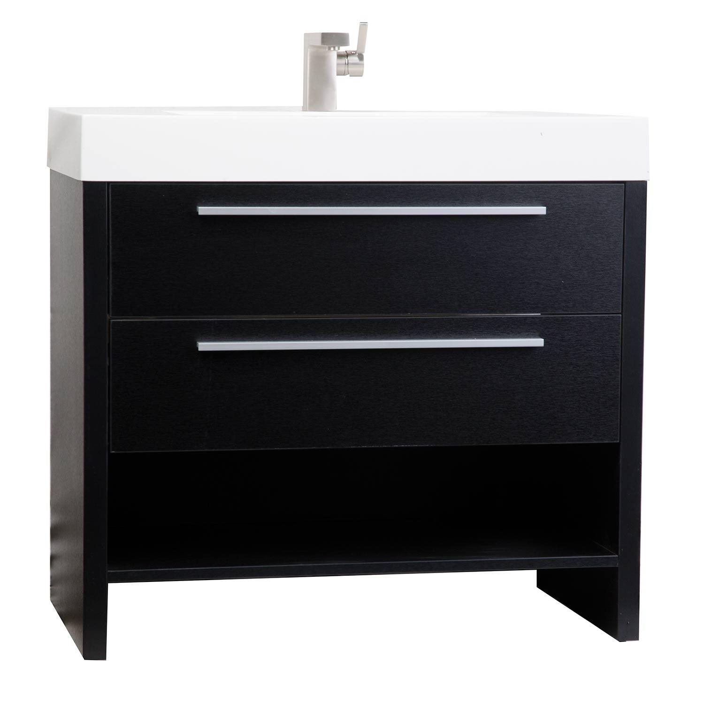 Mula 35 5 Inch Modern Bathroom Vanity Matt Black Rs L900 Bk On