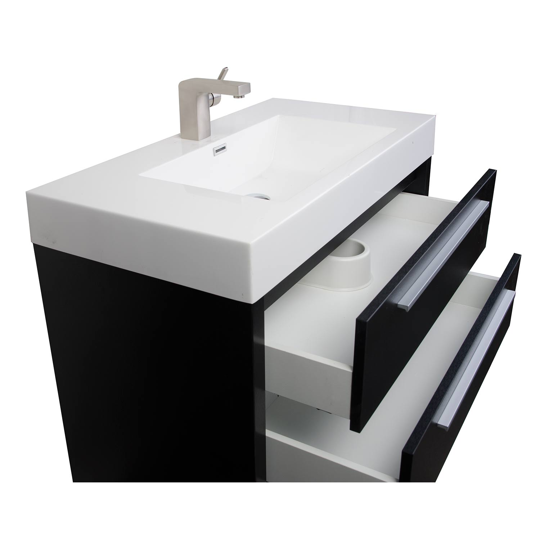 Mula 35 5 inch modern bathroom vanity matt black rs l900 for Modern black bathroom
