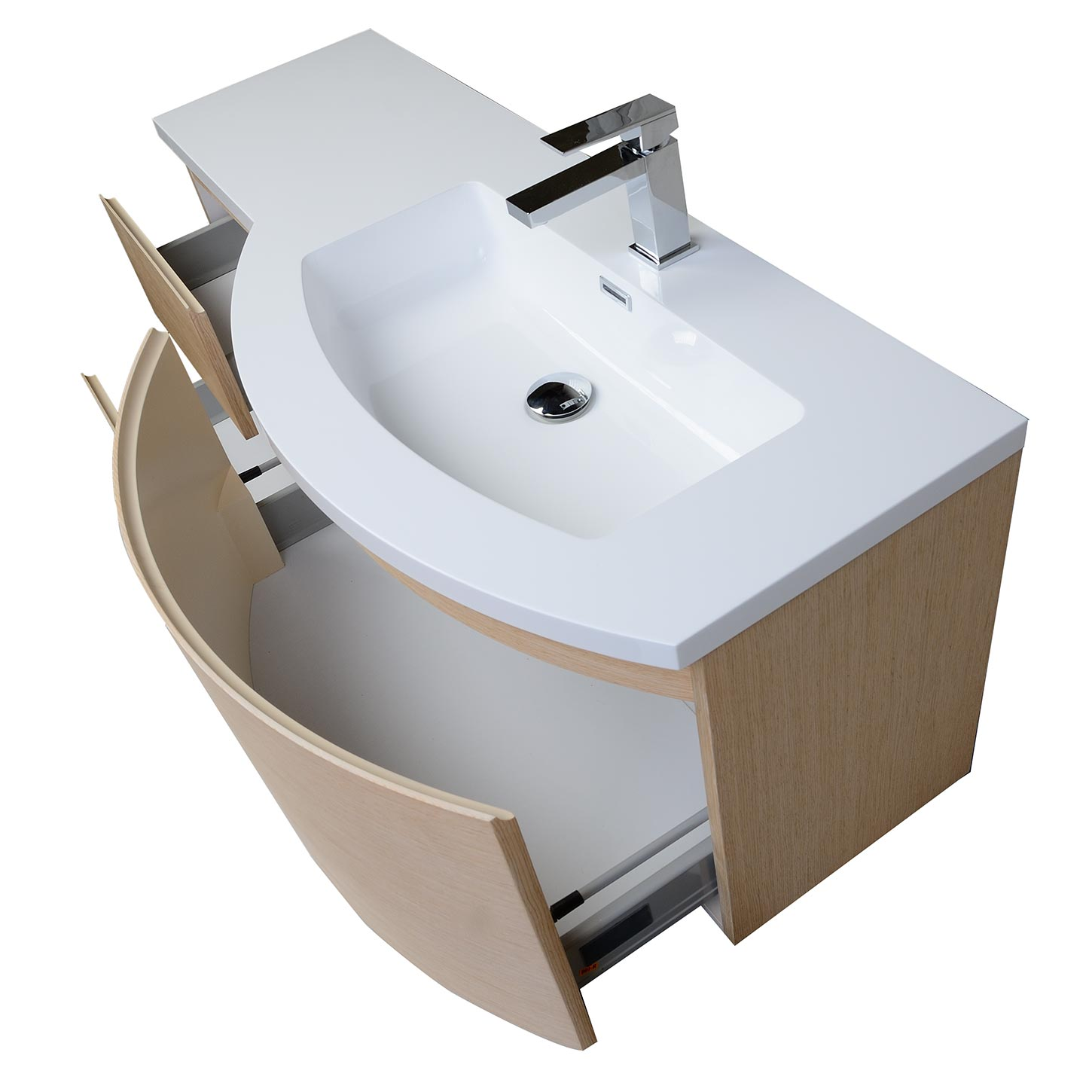 trends adelina bathroom vessel white inch vanity finish vanities sink