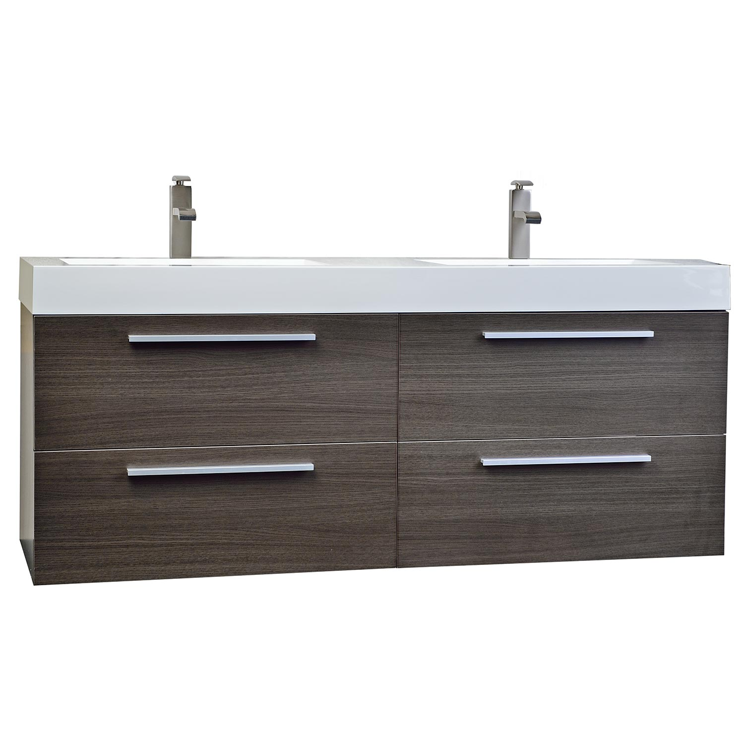 your undermount wash bathroom the sink lines gray cabinet drawer teak look nickel fit trio stylish brushed bringing space polished drawers pulls for this great of vanity rectangular to front a venica