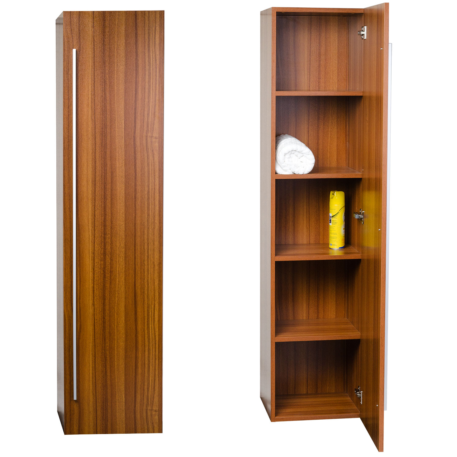 Buy 16 x 67 Linen Cabinet in Walnut TN-N1200-SC-TK on ConceptBaths.com