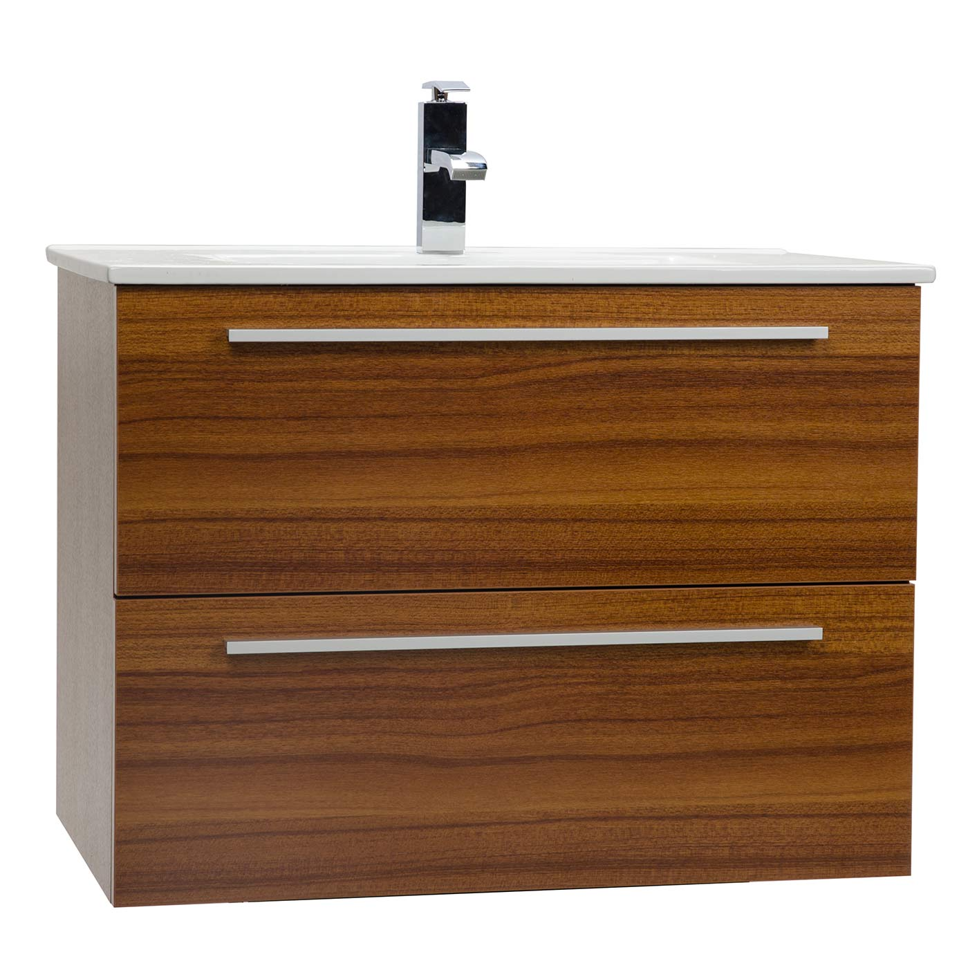 . Nola 29 5  Wall Mount Modern Bathroom Vanity Teak TN T750C TK
