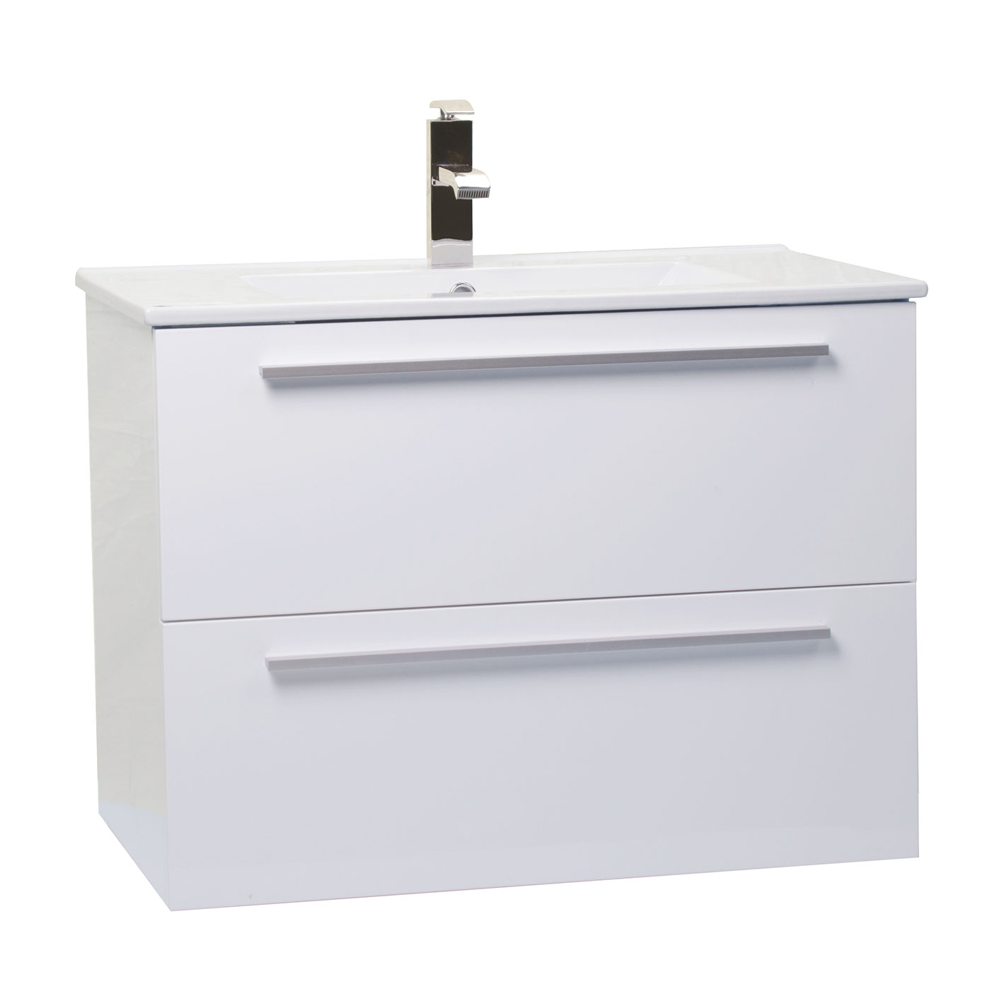 Buy nola 30 inch wall mount modern bathroom vanity gloss for Bathroom wall vanity cabinets